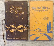 Lot with two poetry collections of Annie Johnson Flint - 1938