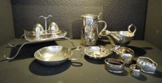 10 Silver plated items for use in the kitchen