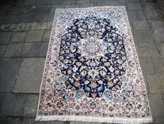 Hand-knotted Persian carpet, Nain, with silk - 220 x 140 - Iran - late 20th century.
