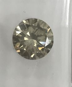 1.31ct Round Brilliant-Cut Not Reserves  Diamond Natural  Fancy Yellow Vs1
