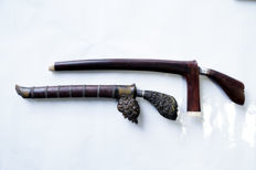 Lot of 2 (Tumbok Lada & Siwah) dagger - Indonesia