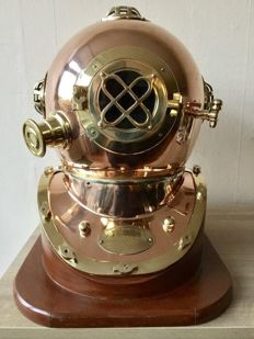 Life-size American Pearl Harbor diving helmet
