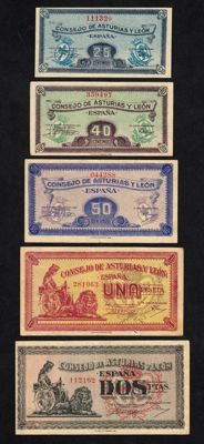 Spain - Asturias and León - Complete series - Pick S601, S602, S603, S604, and S605