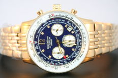 "Krug-Baumen Air Traveller ""Gold Blue Diamond"" -- Men's wristwatch"