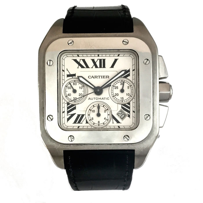Cartier Santos 100XL Chronograph, Reference 2740 Men's/unisex watch – 2005