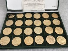 France - Set of 24 medals 'The Imperial Collection' (1980/1985) - Golden Bronze