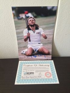 Björn Borg Signed Photo Wimbledon Champion + COA.