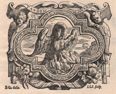 Christoffel Jegher ( 1596 - 1652) - Printer's mark by G. Lesteens after design by Erasmus Quellinus ( 1607 - 1678)