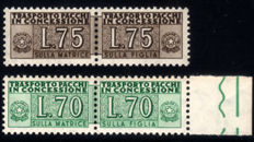 Republic of Italy – Concession parcels – Stars – Lira 70 & 75