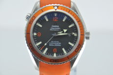 Omega Seamaster Planet Ocean Co-Axial 600m Orange Big Size 45mm Men's Watch - 2007