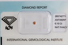 Natural Fancy Pink Diamond 0.10 ct  with IGI cert