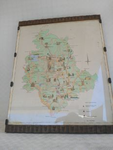 Map of ancient Umbria. Origin: Italy. Framed, 1850