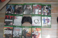 Lot of 13 xbox one topgames in box scratch free + xbox one controller