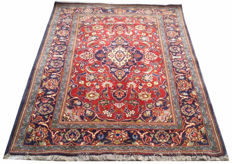 Semi Antique Persian Kashan Hand Knotted Area Rug 177 cm x 130 cm