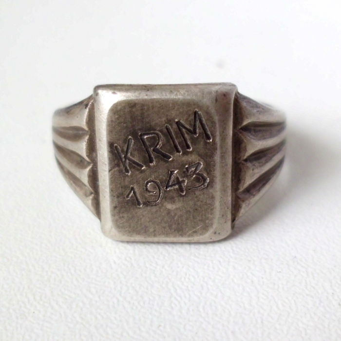 Commemorative ring made of 830 silver, Wehrmacht, WWII for sale