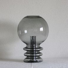Glashütte Limburg - Handblown smoked glass table lamp