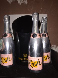 Champagne Rose Veuve Clicquot Rich - 3 bottles (75cl)