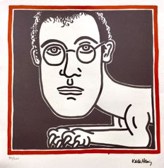 Keith Haring - self-portrait