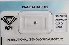 Natural Fancy Pink Diamond 0.07 ct  with IGI cert