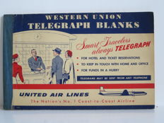 Western Union Telegraph Blanks - United Airlines - Ca 1950 - Amerika
