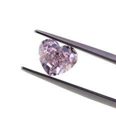 2.01 ct. Natural Fancy Purple Pink Heart Modified Brilliant shape Diamond, GIA certified