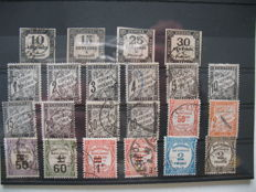 France - collection of postage due