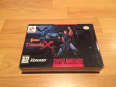 "SNES ""Dracula X"" Extremely rare, fully complete and in superb condition."