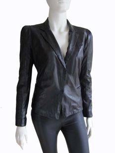 Marccain - Lamb nappa leather jacket
