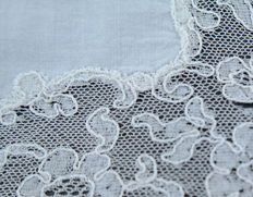 Two lace handkerchiefs, Belgium, early 20th century
