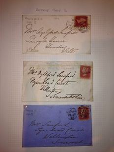 Great Britain, Queen Victoria - selection of 12 Pages, Including covers and stamps