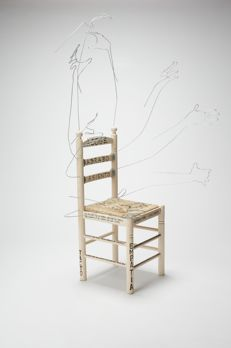 Nathalie Poza y José Luis Rayos - Customized wood and wicker chair, 2017