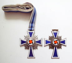 Mother cross in silver and bronze, 3rd Reich