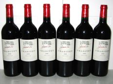2000 Château Crabitey, Graves - lot of 6 bottles