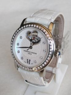 FREDERIQUE CONSTANT Mother of pearls - Diamonds Double Heart Automatic FC-310WHF2PD6 like new