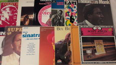 Collection of fantastic Jazz, Swing and Blues Music - 13 LP Album (3 are 2LP Double Album) (Thelonious Monk, Frank Sinatra, Lovie Austin, Count Basie, Armstrong, Duke Ellington a.o...)