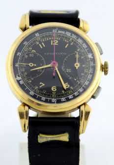 Sporting (Switzerland).  Men's chronograph wristwatch.  Circa 1920