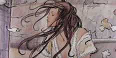 "Manara, Milo - lithograph ""The Wind"" giant format"
