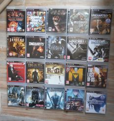 Nice lot of 20 PS3 games in box with manual