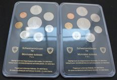 Switzerland - uncirculated coin set 1987 and 1988