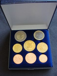 Monaco - Year series Euro coins 2001 (8 pieces) in coffer