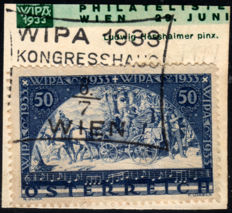 Austria, 1933 – WIPA fragment + German Occupation of Upper Silesia + Austria newspapers postage