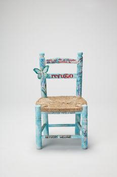 Sara Carbonero - Custom made wood and wicker chair - 2017.