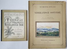 Lot with two atlases of the Dutch Indies
