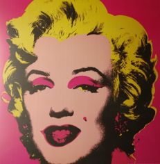 Andy Warhol (after) - Shot pink Marilyn
