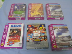 Lot of 7 Sega Game Gear Games - 4 of those games are still sealed like : Lion King, Super battle tank 2, Caesers Palace and Sports Trivia