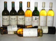 Assortiment Bordeaux Blancs, 4 x 1990 Le Sartre 3 x 1996 Bel-Air 2 x 1989 R de Rieussec 1 x 1990 Fernon - total 10 bottles