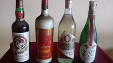4 bottles - 2 Marsala: Florio & Vito Turatoli + 2 Grappa: Branca & Reimandi - Closed distilleries