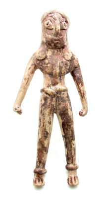 Indus Valley Terracotta Warrior Amulet / Figure - 130x55 mm