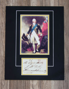 Signed colour display King 'William IV (William Henry; 21 August 1765 – 20 June 1837)