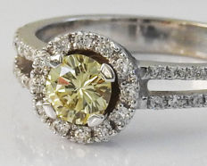 Yellow Fancy Diamond Engagement Ring